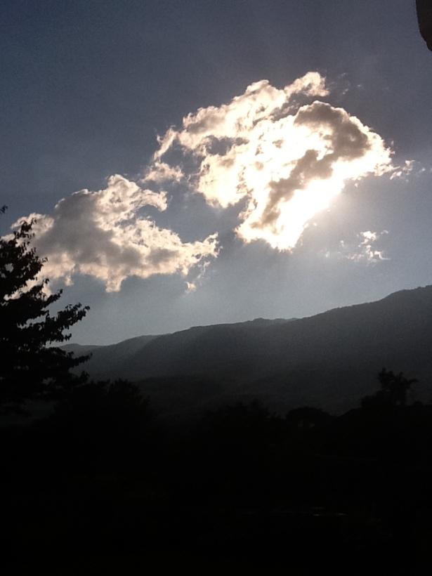 clouds sun jura